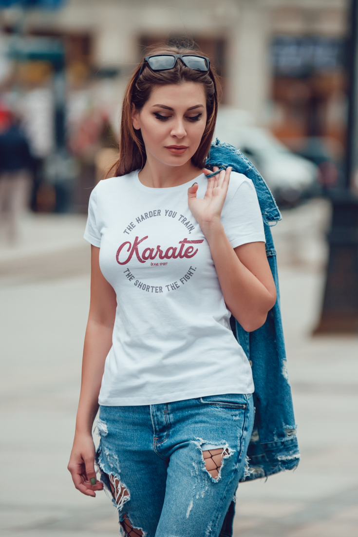 705b1589aa With this Vintage Karate t-shirt you re sure to catch some looks if you  rock it with ripped jeans and denim jacket!  karatetshirt  karateshirt   karate ...