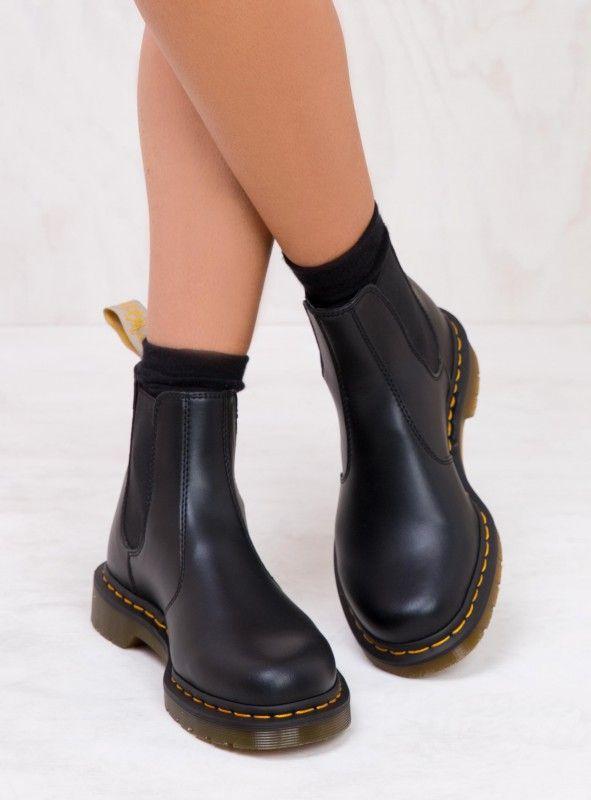 Dr Martens Womens Vegan Flora Chelsea Boots Women's Shoes Shoes