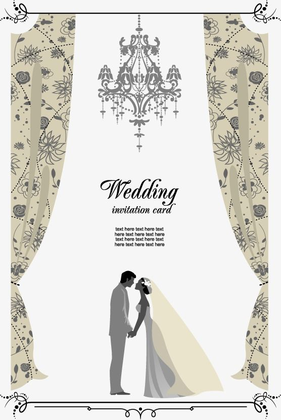 Vector Wedding Invitation Hd Greeting Cards Png