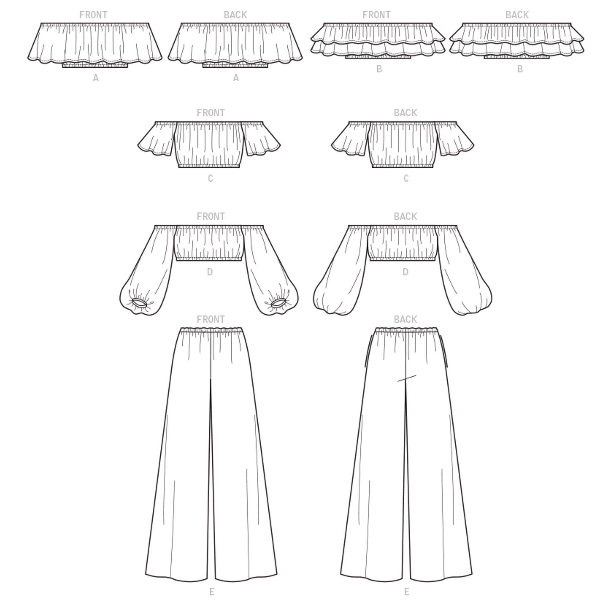 McCall's Sewing Pattern Misses' Tops and Pants-L-X