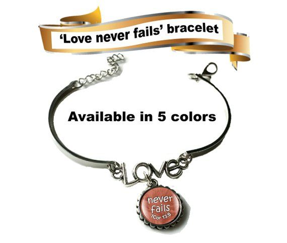 Wedding Witness Gifts: JW Gifts/'Love Never Fails' 1Cor 13:8 Bracelet/jw.org/JW