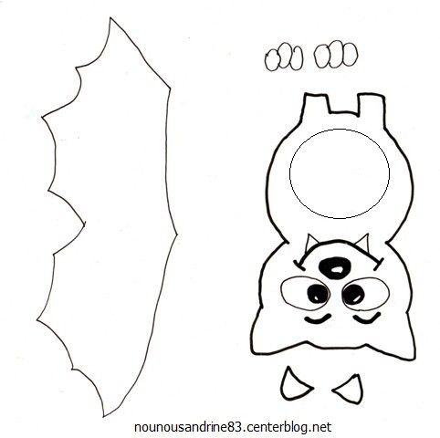 activit manuelle halloween chauve souris id es mini cadeau pinterest activit. Black Bedroom Furniture Sets. Home Design Ideas