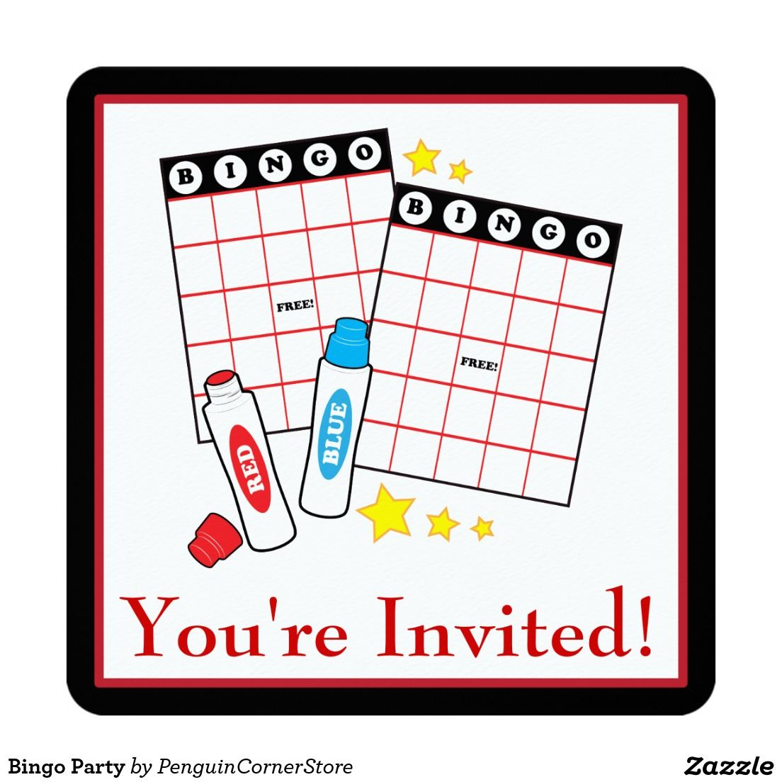 Bingo Party Card | Our Recently Sold Designs | Pinterest | Bingo ...