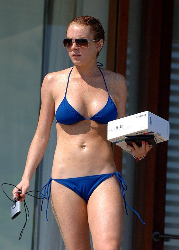 Lindsay Lohan in Malibu not long after 20th birthday.