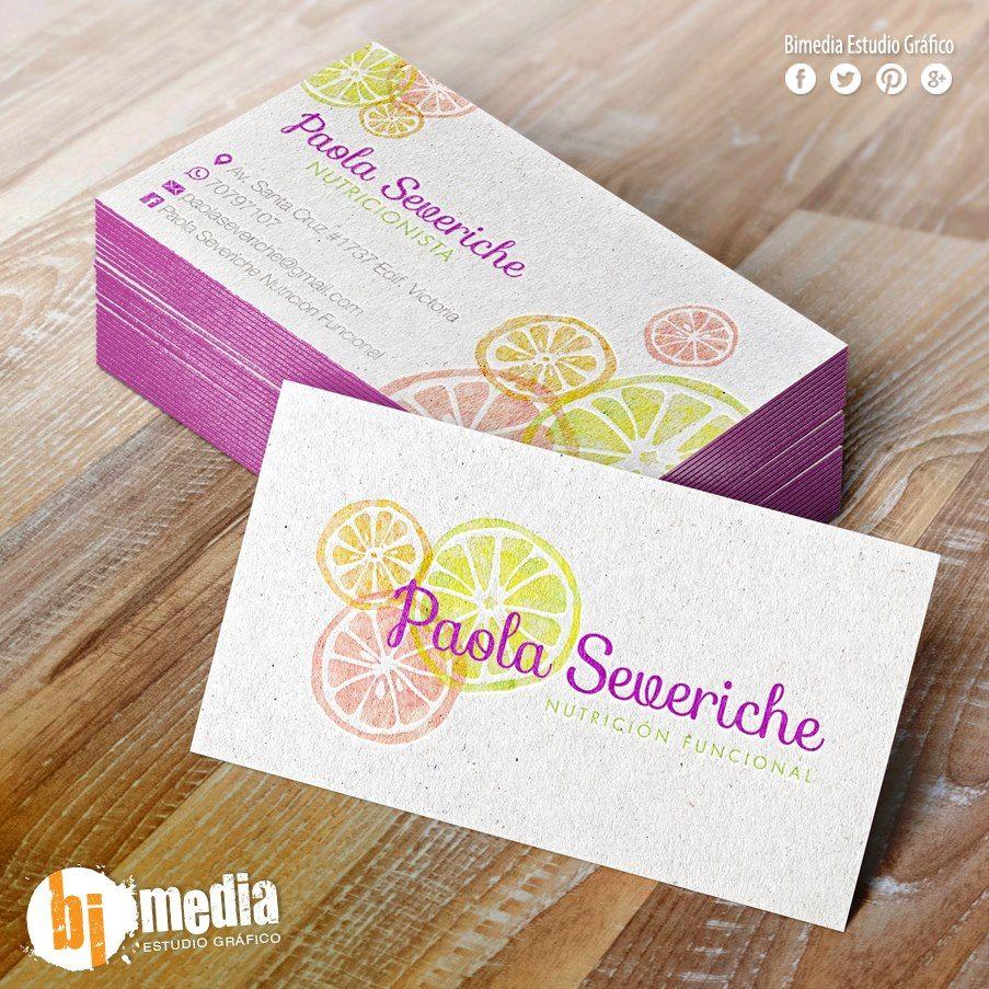 Diseño de Marca y Tarjeta Personal Paola Severiche Nutrición ...