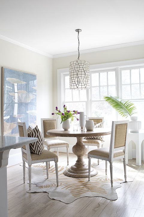 Change The Look Of The Room Effortlessly With Round Rug Darbylanefurniture Com In 2020 Casual Dining Rooms Dining Room Design Gold Dining Room