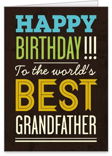 Best Grandpa 5x7 Folded Card By Treat Shutterfly Happy Birthday Grandpa Happy Birthday Greeting Card Grandpa Birthday Card