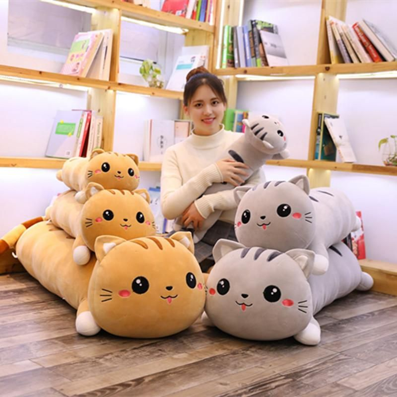 Giant Squishy Cat Soft Pillow Cat Plush Cute Stuffed Animals Cat Plush Toy
