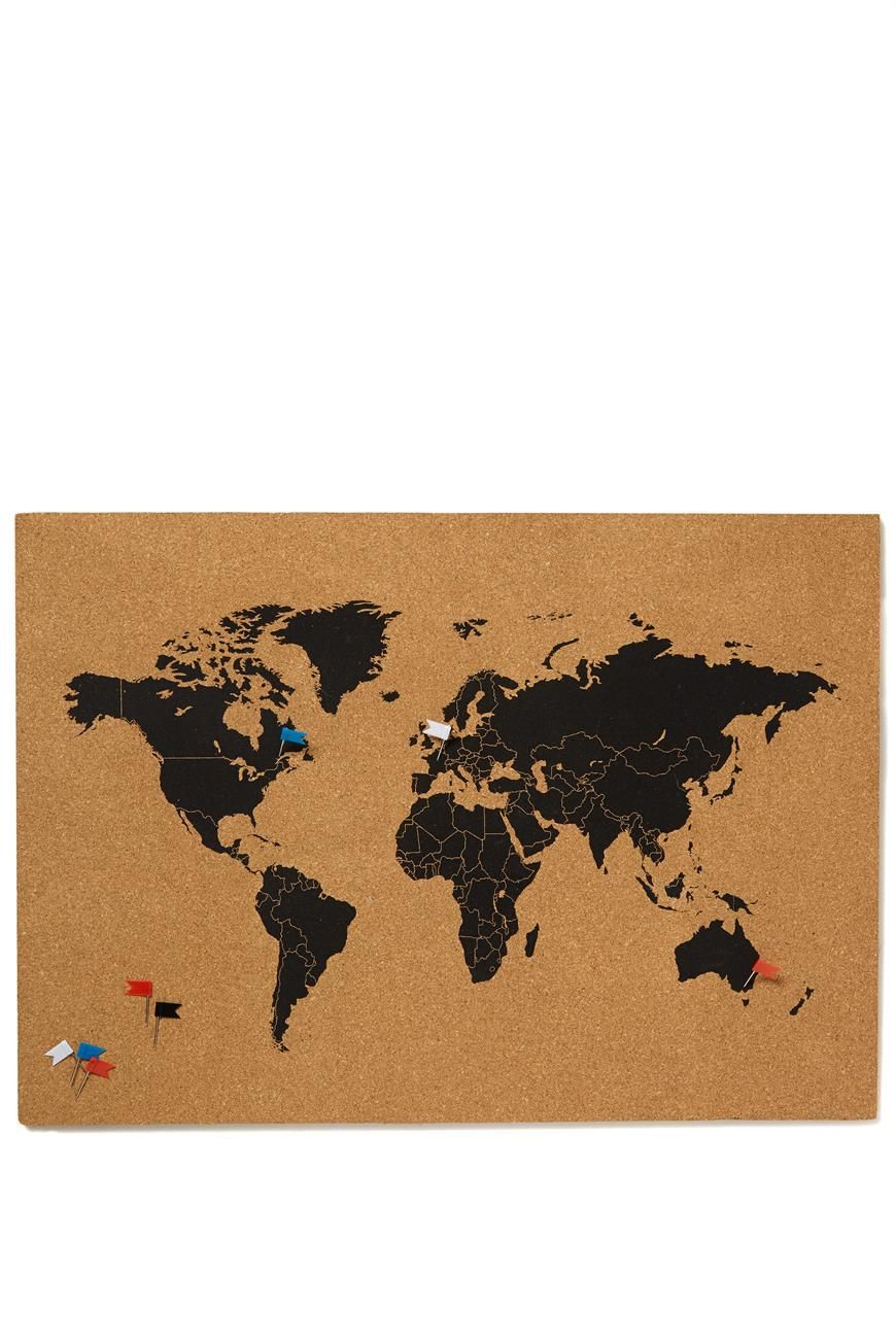 stick things onto our map printed cork board dimensions cm x 42 cm