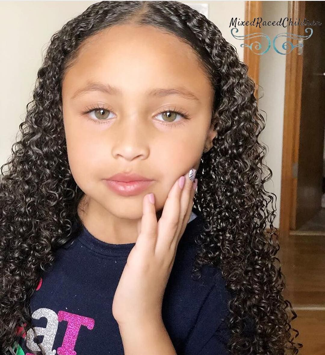 Mixedracedchildren On Instagram Kaydree 6 Yrs Old African American Caucasian German And Hispanic Mexican Girl With Green Eyes Mixed People Mixed Kids