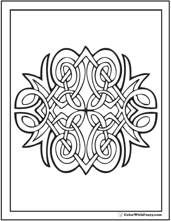 cat celtic coloring pages - photo#6