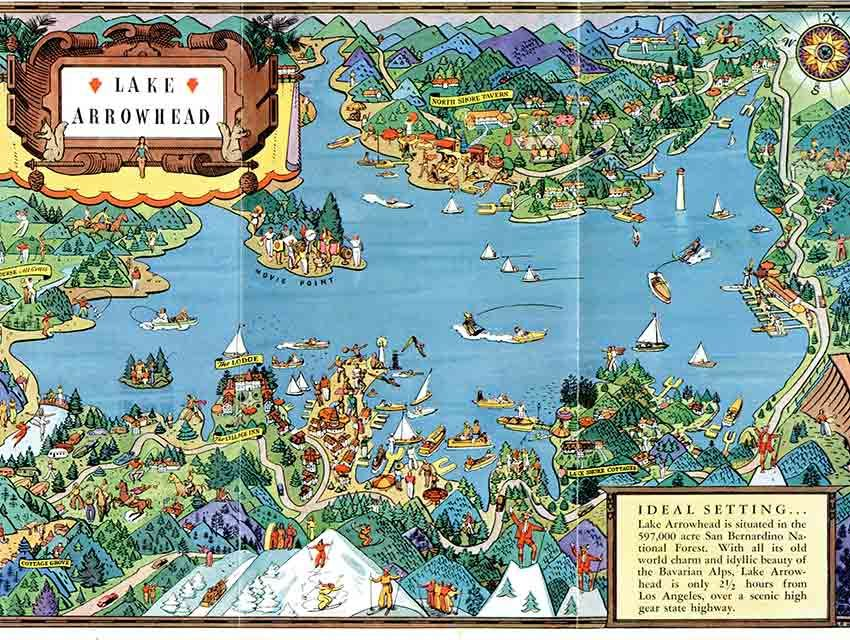 lake arrowhead village map Citydig Lake Arrowhead Looks Like Paradise In This 1925 Map For lake arrowhead village map