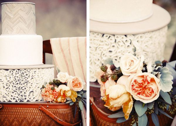 yep, a herringbone wedding cake.