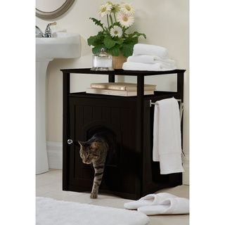 Decorative Litter Box Merry Products Kitty Espresso Comfort Room Hidden Litter Cat Box