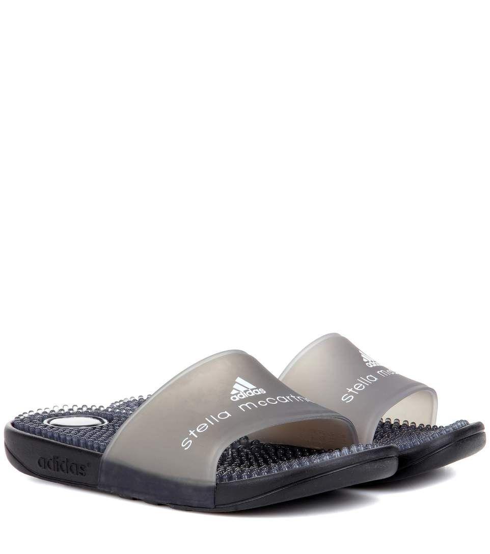 ADIDAS BY STELLA MCCARTNEY Adissage slip-on sandals.  #adidasbystellamccartney #shoes #sandals