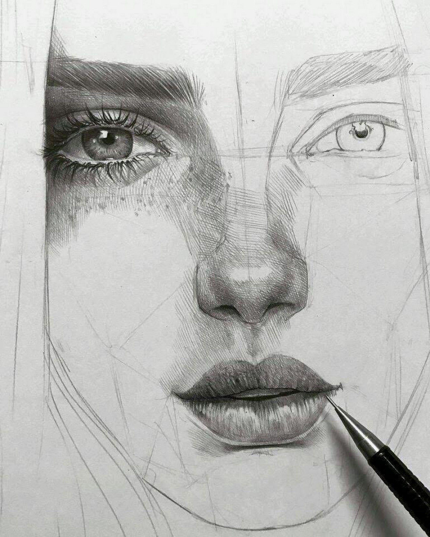 Hilal Dessin Visage Portrait Au Crayon Idees Esquisses