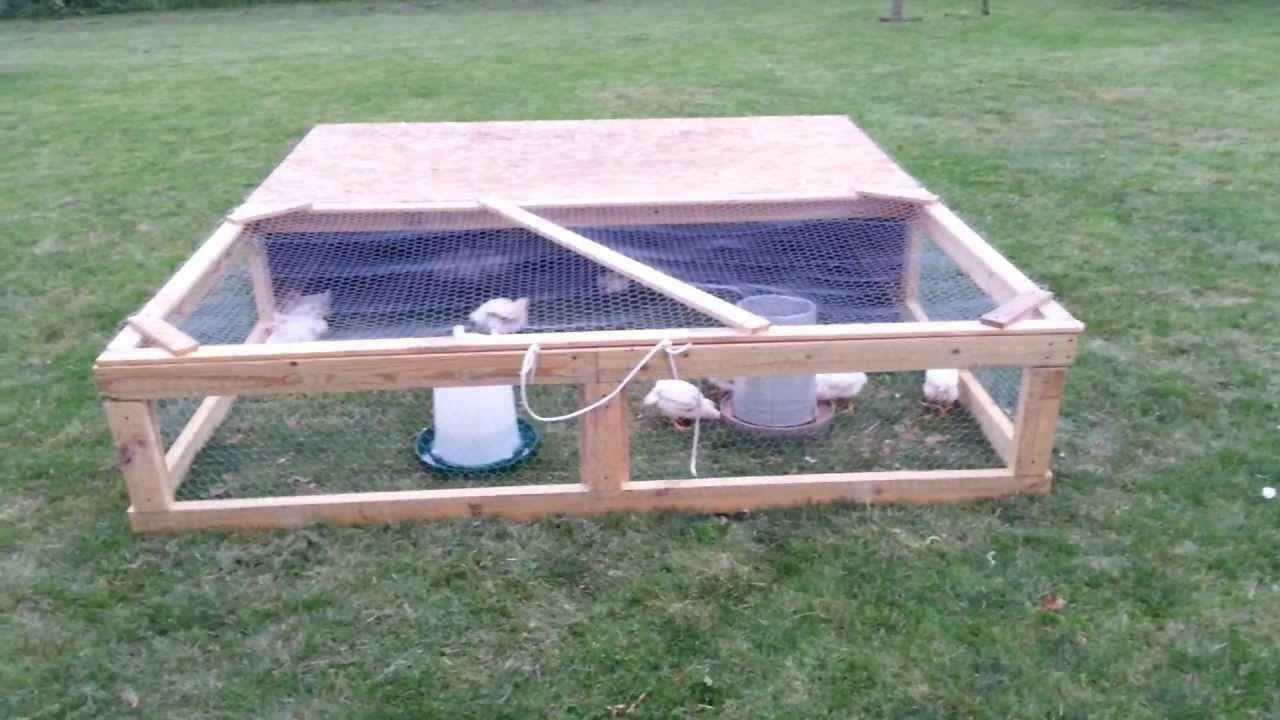 Easy Diy Homemade Chicken Tractor On Wheels Chicken Tractor Urban Chicken Farming Building A Chicken Coop