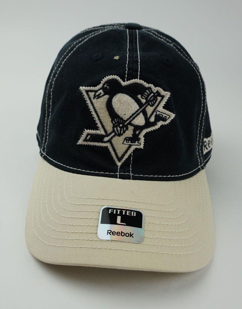 e1813e2d9394d Reebok Pittsburgh Penguins Hat Cap Cotton Slouch Fitted Size L ...