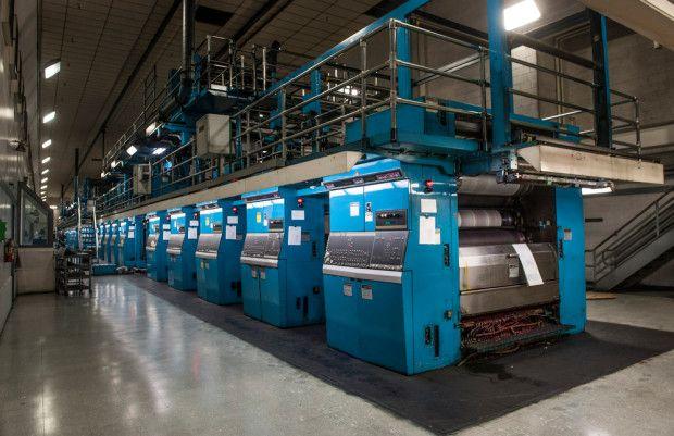Goss Headliner Offset Press Life Printing Press Real Estate