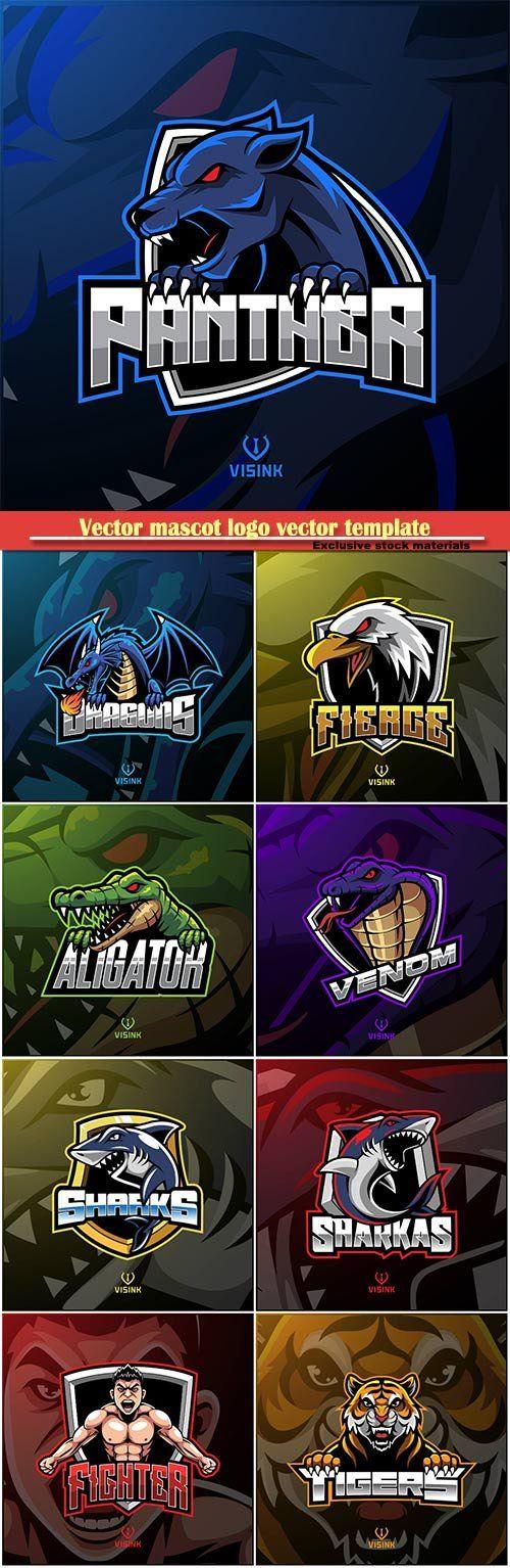 Vector mascot logo vector template 4 Vector logo, Logo