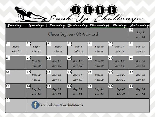 June Facebook Push up CHALLENGE! ~ To Insanity & Back