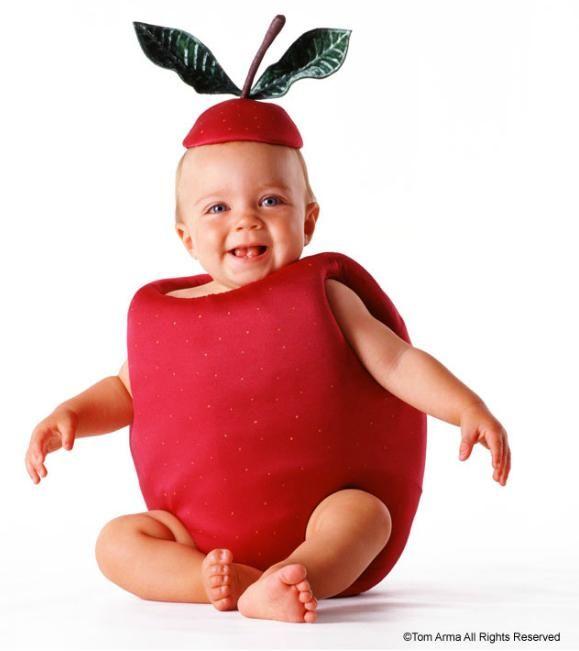 Baby fruit photo idea, apple Apple costume, Fruit