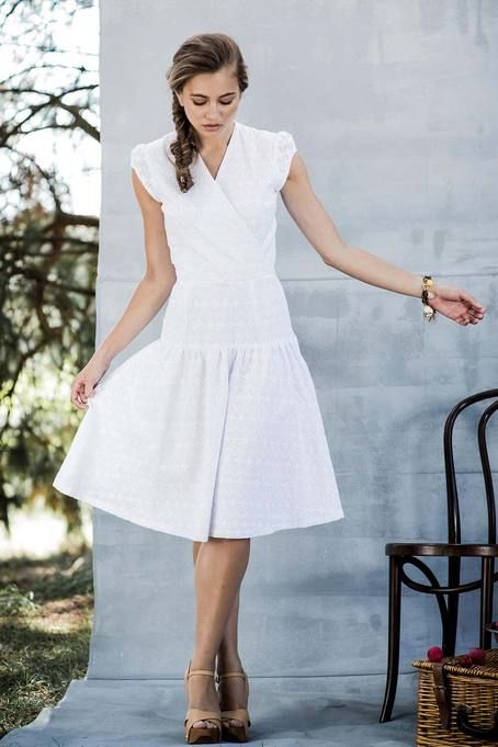 Shop for gorgeous white fit and flare dresses online at Shabby Apple. Find vintage and retro style modest clothing for women in all colors, sizes, fabrics and styles!