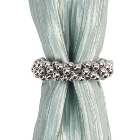 Calista Napkin Ring - Silver from #zgallerie // fabulous way to glam up any table