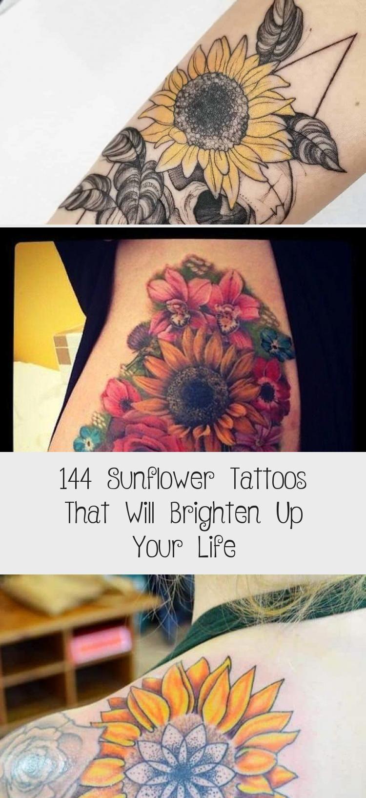 Photo of 144 Sunflower Tattoos That Will Brighten Up Your Life #sunflowertattoosDesign #s…