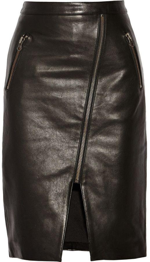 Mason by Michelle Mason Leather skirt