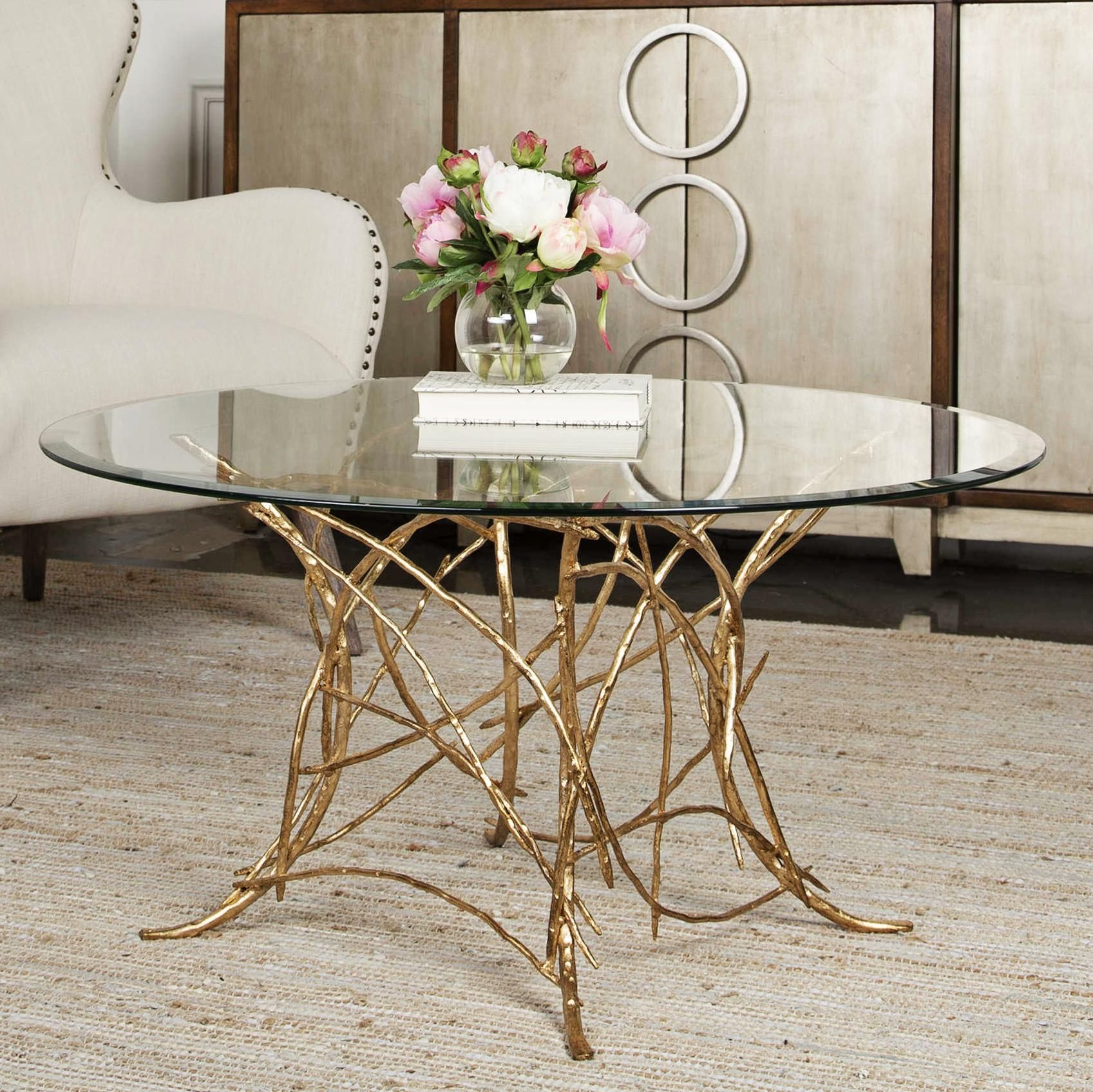Uttermost Amoret 36 Inch Wide Gold Leaf Branch Coffee Table In 2020 Coffee Table Furniture Contemporary Coffee Table Coffee Table Design