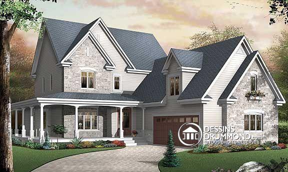 Plan de Maison unifamiliale W3830, plan de maison incroyable pour