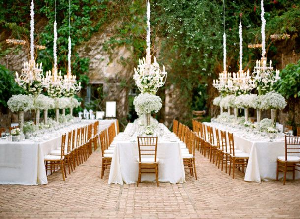 Chandeliers Outdoor Weddings