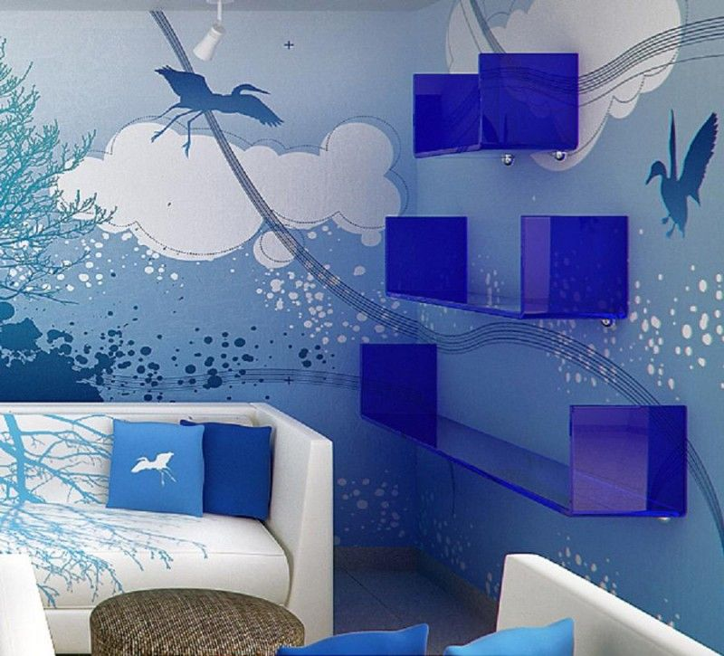 Blue Sky And Cloud Wall Mural Interior Theme Decoration By Jorge Aguilar Blue Sky And Cloud Theme Wallpaper Interior Decoration By Jorge Aguilar Home