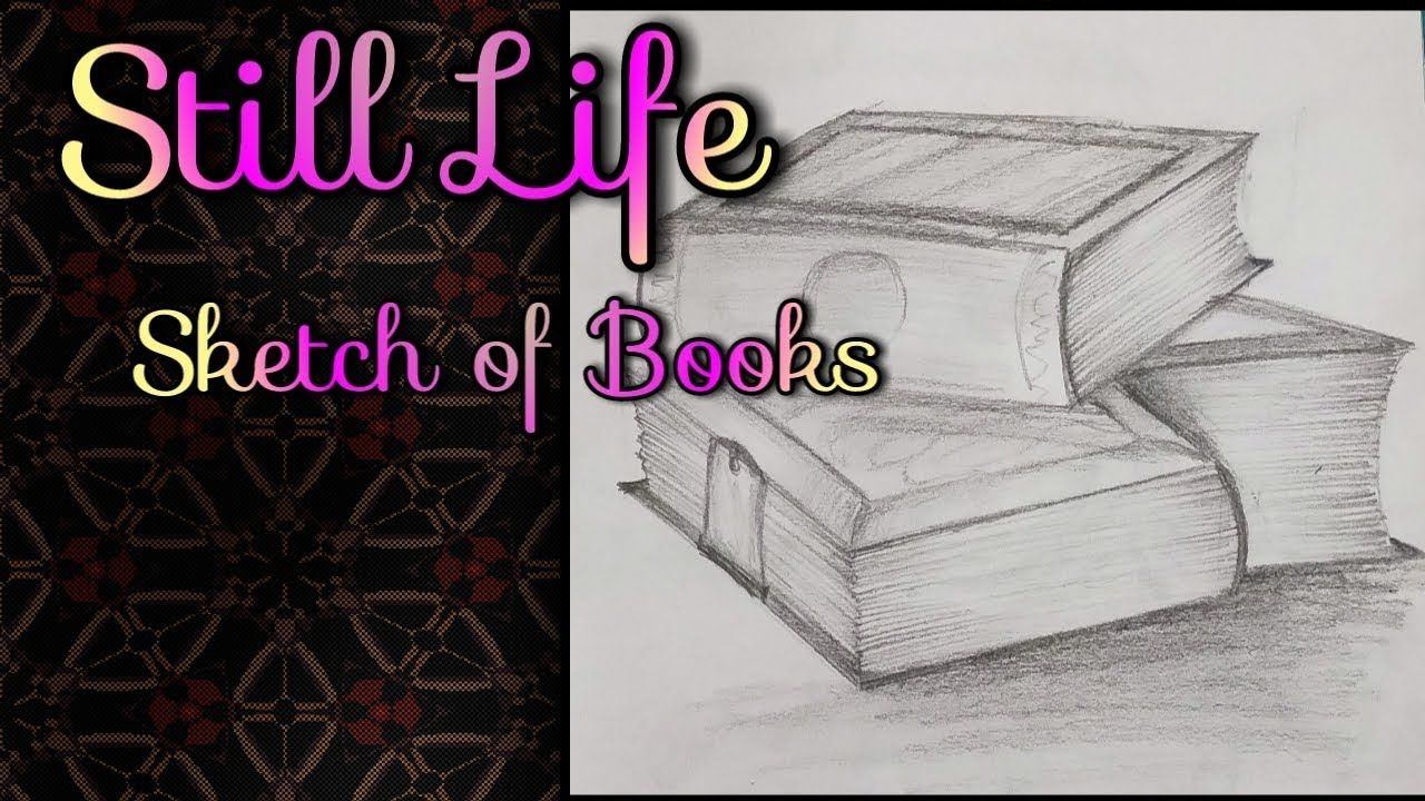 Elementary And Intermediate Exam Object Drawing 3d Books Still Life E12 Youtube Still Life Drawing Still Life Sketch Object Drawing