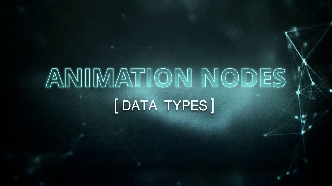 Blender Animation Nodes Data Types Visual Programming For Artists Youtube Blender Tutorial Blender Blender Models