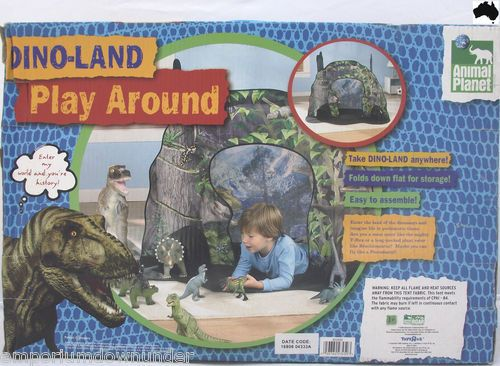 Kids Play Tent Cubby House Dino Land Dinosaur Animal Planet Indoor Outdoor NEW / & Kids Play Tent Cubby House Dino Land Dinosaur Animal Planet Indoor ...