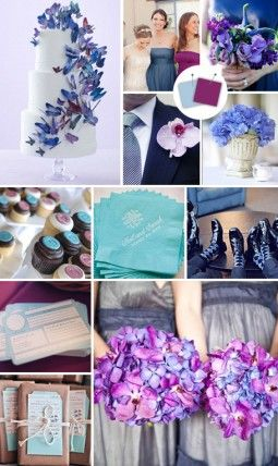20 Crazy Wedding Colour Combos That Actually Work Powder Blue And Plum The Knot