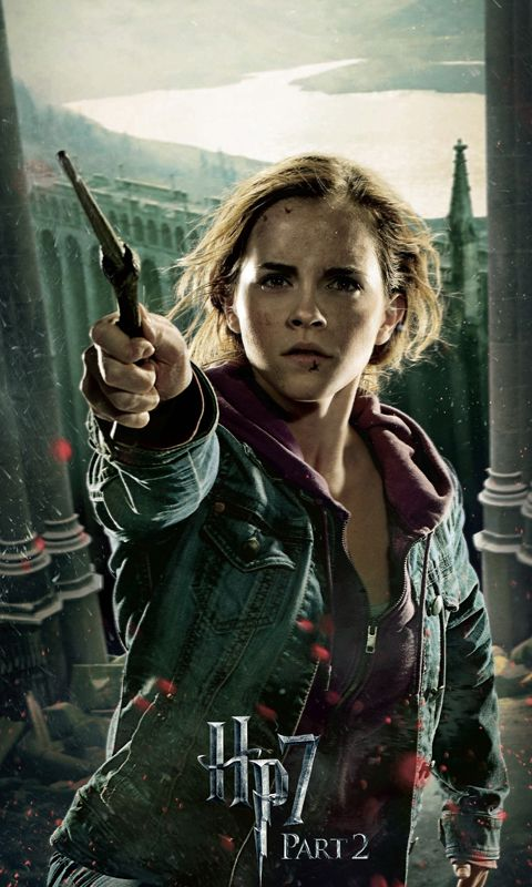 Harry Potter And The Deathly Hallows Part 2 Hermione Wqvga Wvga Wallpaper Wal Harry Potter Hermione Harry Potter Poster Harry Potter Film