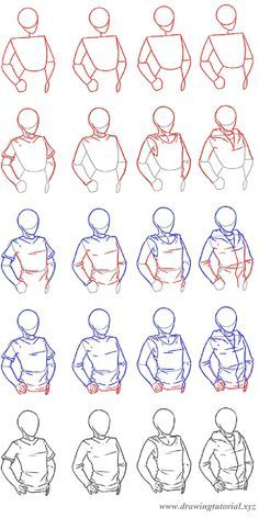 How To Draw Clothing How To Draw A Man Or A Woman Wearing A T Shirt A Top Or A Hoodie Step By Step Tutorial Drawing Refe Cizim Teknikleri Cizimler Cizim