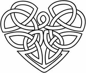 Bildergebnis für keltischer knoten malvorlage