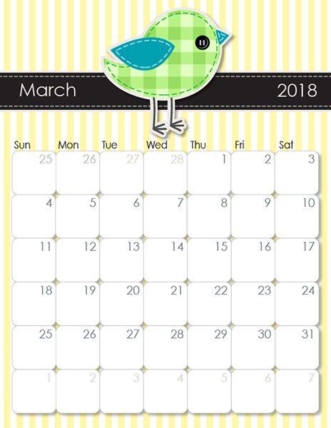 Whimsical 2019 Printable Calendar | Free, Cute & Crafty Printable