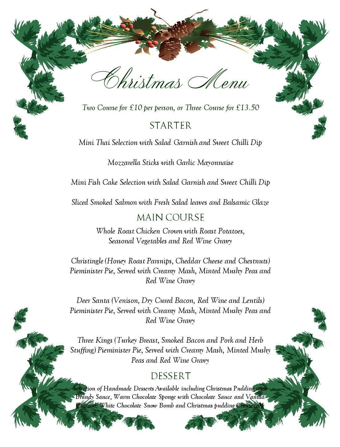 free printable menu templates christmas menu templates free page not
