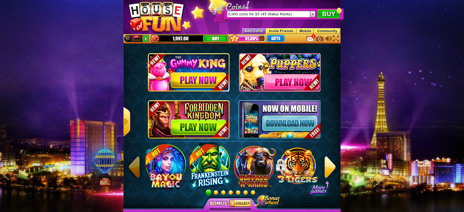 House Of Fun Slot Machines Lobby Meet House Of Fun Free Chips