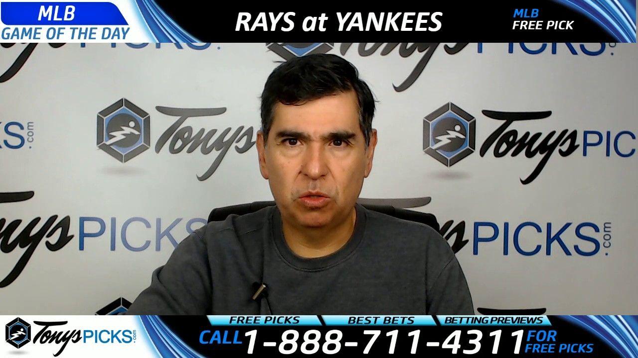 Tampa Bay Rays vs. New York Yankees Free MLB Baseball Picks and Predicti...