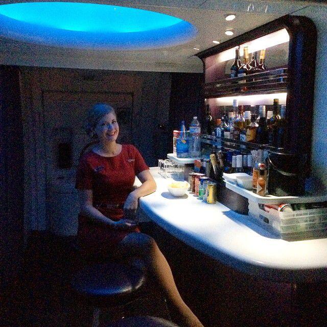 The sky bar at 35,000ft ✈️ #skybar #boeing #777 #aircraft #flightattendant #airhostess #trolleydolly #flygirl #stewardess #lifeofahostie #crewlife #yourfavetrolleydolly
