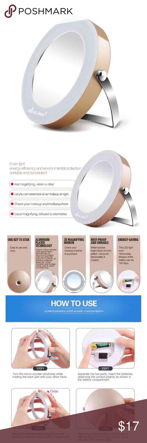 LED Makeup Mirror Magnifying Lighting NWT Makeup mirror
