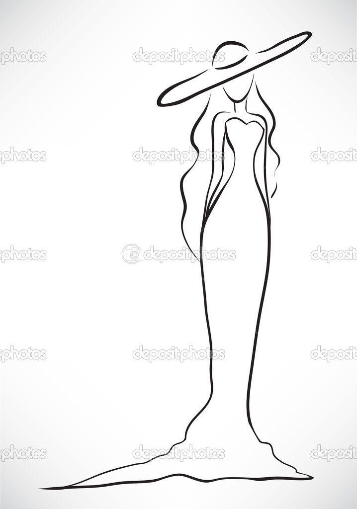 Гравюры рисунки красивых сексуальных современных женщин