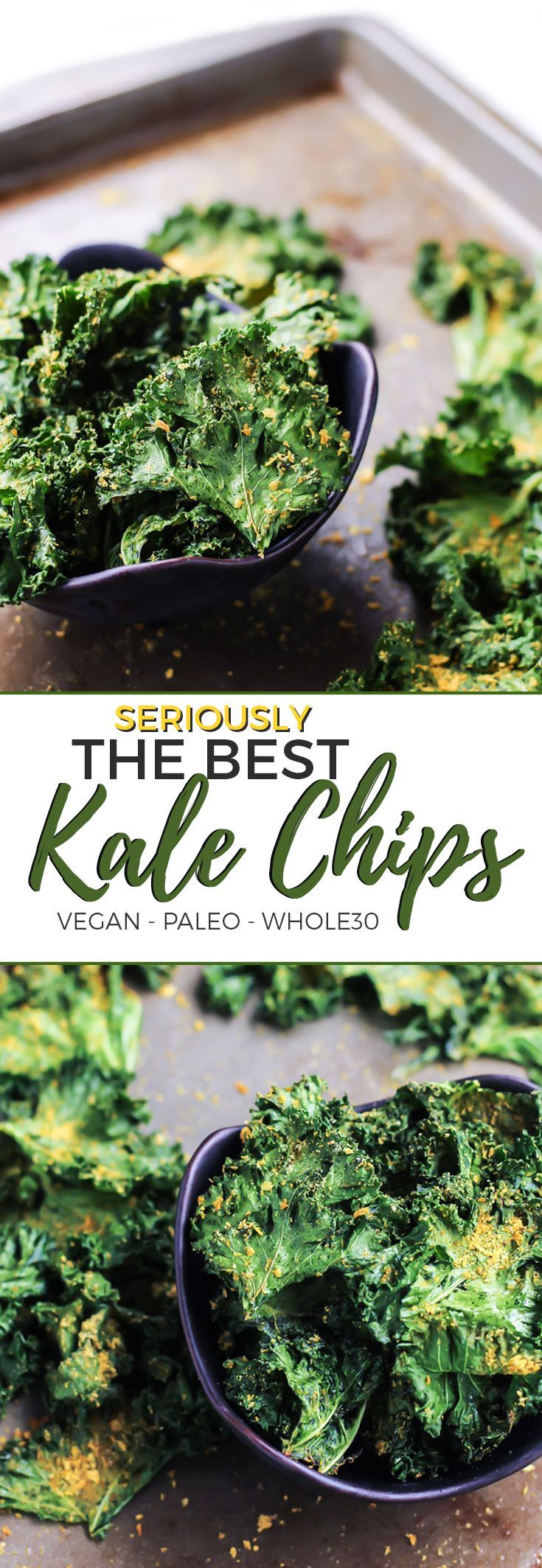 The Best Kale Chips [ vegan, paleo ] #cleaneating