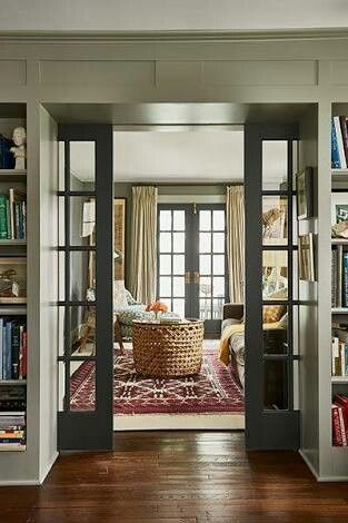 French Door Between Living Room And Dining